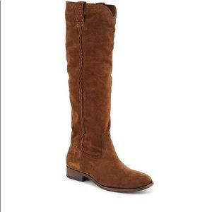 NWOB Frye Cara tall suede boot size 6